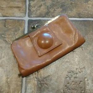HOBO Clutch Purse Tan/Leather